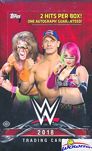 2018 Topps WWE Wrestling Then Now Forever Factory Sealed Hobby Box-2 Hits-Auto